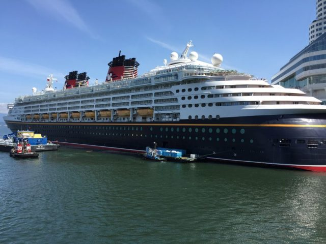 Disney Wonder Cruise Ship in Vancouver