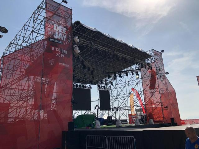 Beach Vacation in Riccione Italy - Concert Stage in Piazzale Roma