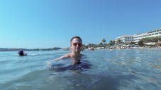 Swimming in Corfù