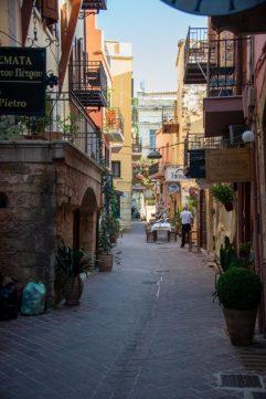 Narrow street in Chania