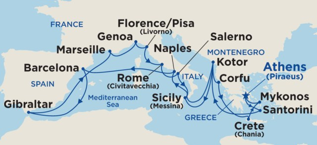 Our Mediterranean Cruise Adventure - All the ports