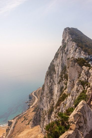 The top of the Rock of Gibraltar - A beautiful view of the Mediterranean on our Cruise Adventure!