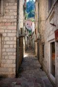 Old narrow streets in Kotor