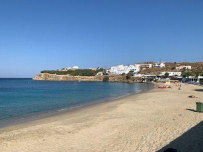 Adjacent to the New Cruise Terminal, Agios Stefanos Beach offers a Beautiful Mediterranean beach