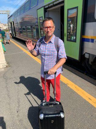 Ready to board the train to Civitavecchia