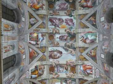 Michelangelo Frescos, on the Ceiling of the Sistine Chapel