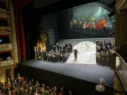 End of the first Act at the Pavarotti Theatre in Modena Italy