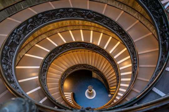Spiral stairs at the Vatican Museum - One of the best things to see in Rome