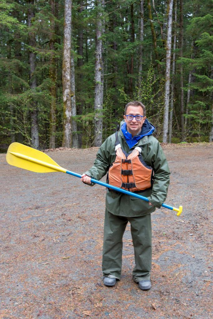 Rick: Ready to paddle to the glacier on of his favorite cruise excursions