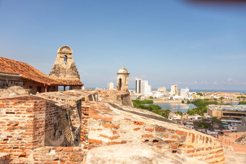 Cartagena Colombia from the old Fortress