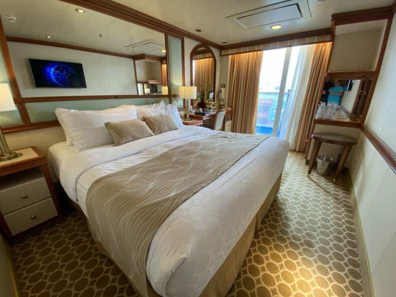A Bed on a Princess Cruise Ship