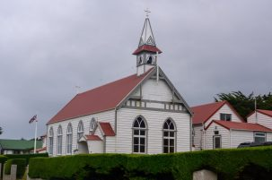 A church in Falkland Islands on our Cruise to South America