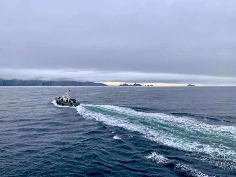 Pilot leaving at Cape Horn - Now we cruise to Antarctica!