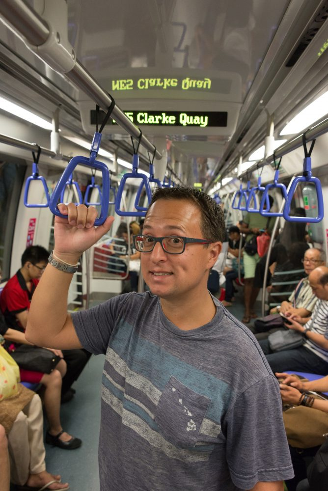 Riding the Singapore Subway on our Asian Cruise Adventure