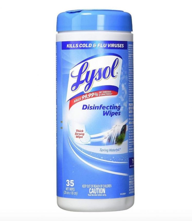 lysol disinfecting wipes for cruise ship surfaces