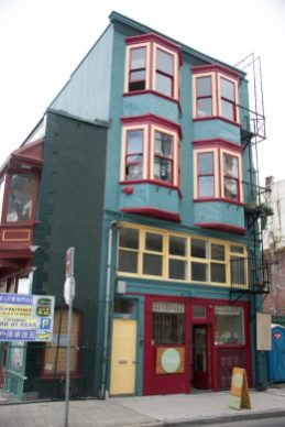 A typical building in Chinatown