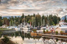 Some boats at Stanley Park, one of the best parks to see in Vancouver