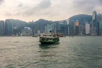 Star Ferry crossing from Kowloon to Hong Kong