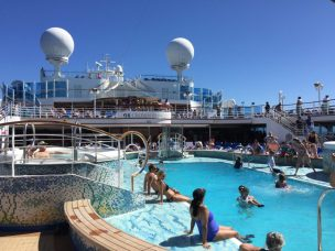 Main Pool on a Cruise Ship
