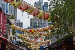 Chinatown in Singapore - Last stop on the first leg of our cruise to asia