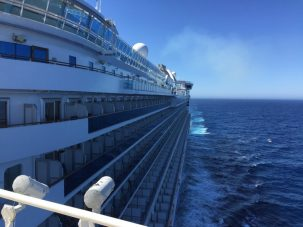 Cruise ship from behind