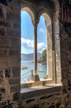 Window in Cinque Terre