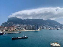 View of Gibraltar - A beautiful view of the Mediterranean on our Cruise Adventure!