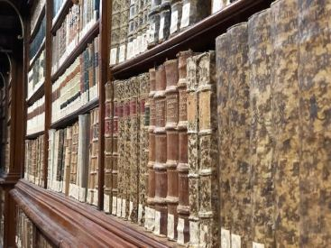 Estensi Library - Up close shot of old books