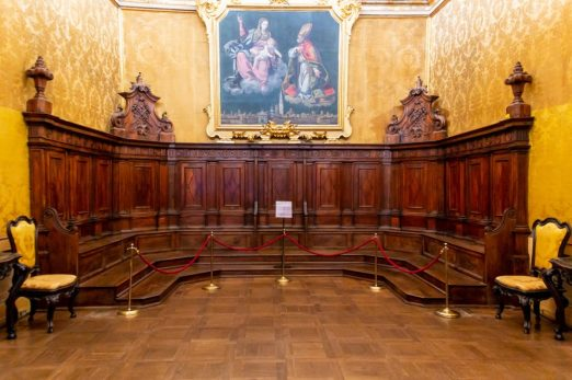 Inside the Historical rooms of the Modena City Hall