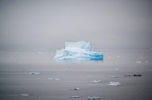 Cruising by an iceberg in Antarctica