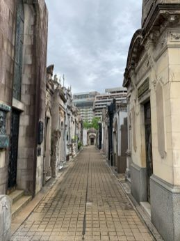 Buenos Aires Recoleta Cemetery - on our Cruise to South America