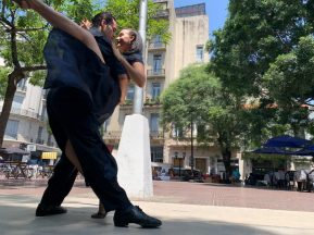 on our final stop in Buenos Aires, we found street performers Seen on our Cruise to South America