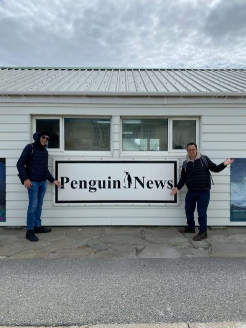 The local newspaper, Penguin News on our Cruise to South America