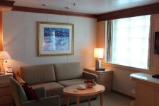 Sitting area in a suite cabin