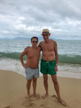Rick and Andrea at Ko Samui Beach