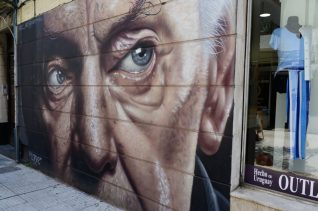 A mural in Uruguay - on our Cruise to South America