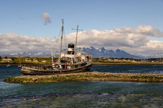 A shipwreck in Ushuaia