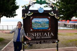 Rick by the Sign in Ushuaia