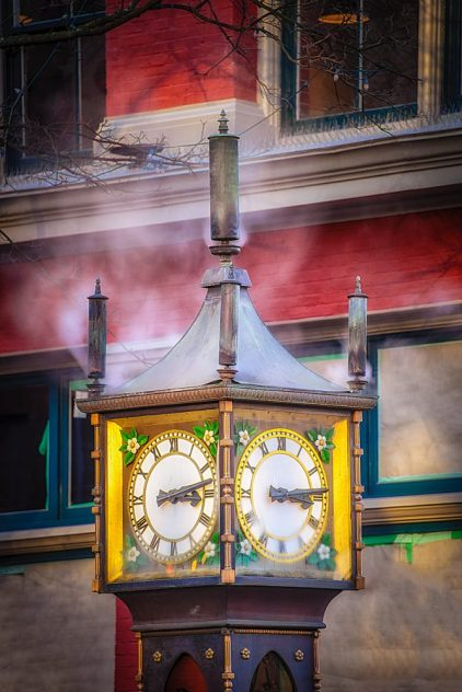 The Steam Clock in Vancouver BC is a Must See!