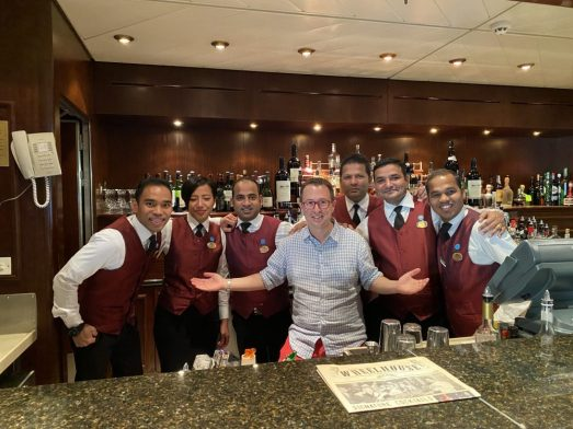 Our Amazing Bartenders on our Cruise to South America