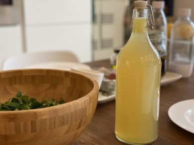 Chicken Broth is bottled for future use