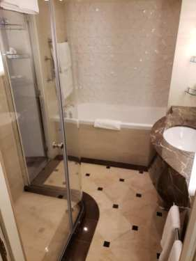 Bathroom in Sky Suite on Sky Princess Cruises