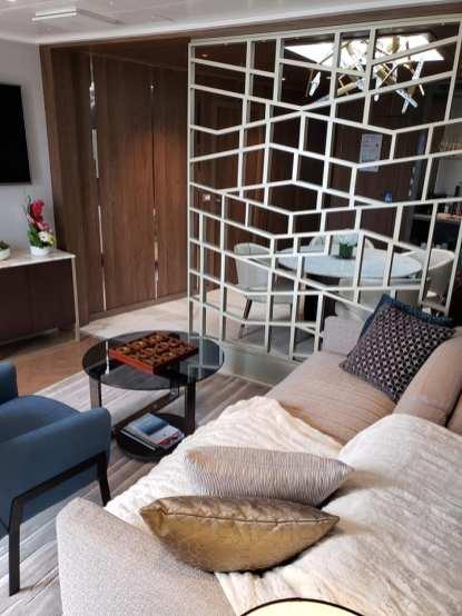 Living Room in Sky Suite on Sky Princess Cruises