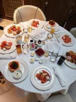 Breakfast on Sky Suite on Sky Princess Cruises