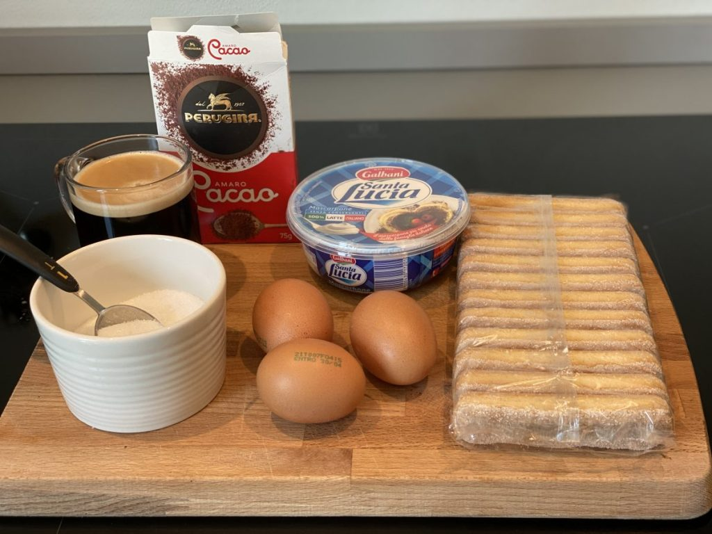 These are the ingredients for the Traditional Italian Tiramisu recipe which is authentic, easy and you can make it at home with or without eggs, and alcohol.