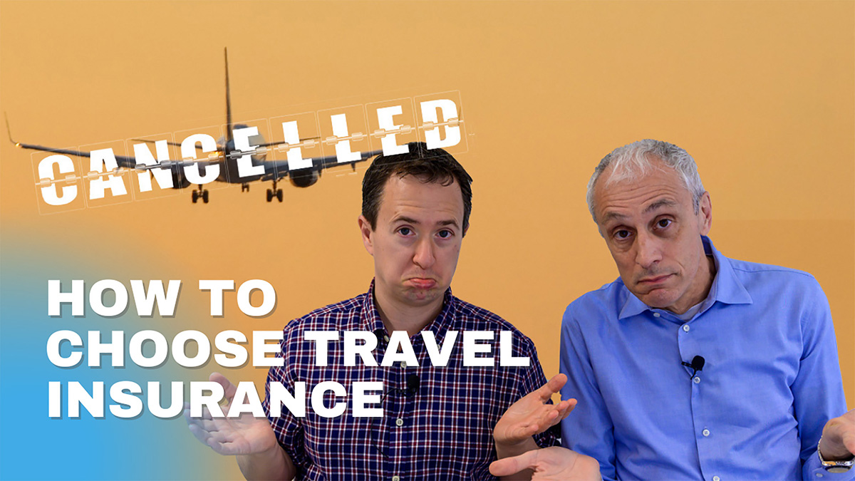 rick and andrea discuss choosing which travel insurance policy to buy