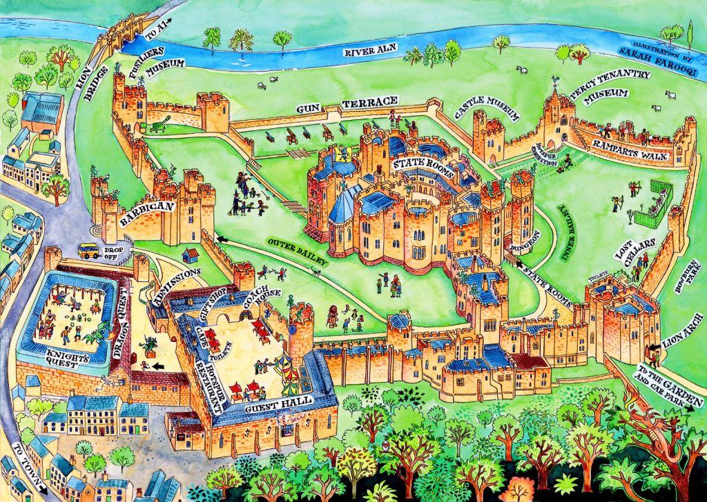 Kastil Alnwick Inggris