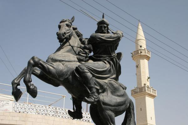 Image of Saladin in the centre of Kerak town, Kerak, Jordan