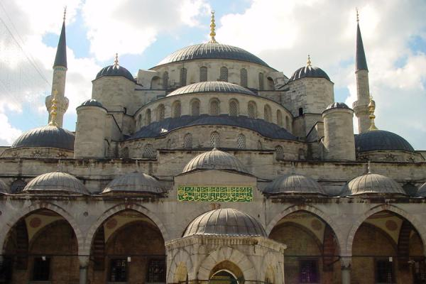 Image of Blue Mosque: domes wherever you look, Istanbul, Turkey
