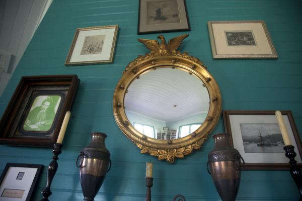 RLS's mirror, in RLS's Museum, Samoa [www.traveladventures.org]